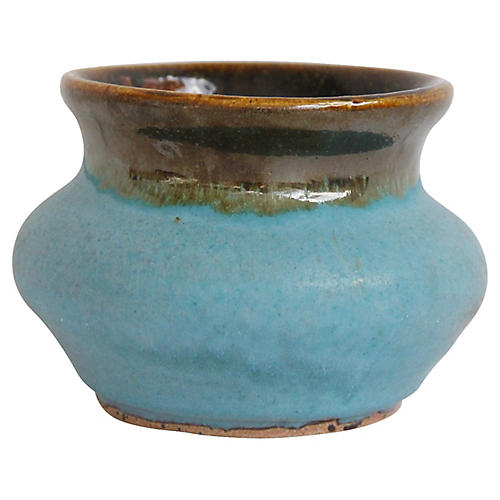 Turquoise Pottery Vessel