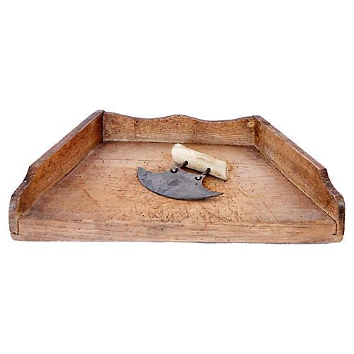 French Herb Chopping Board & Hachoir