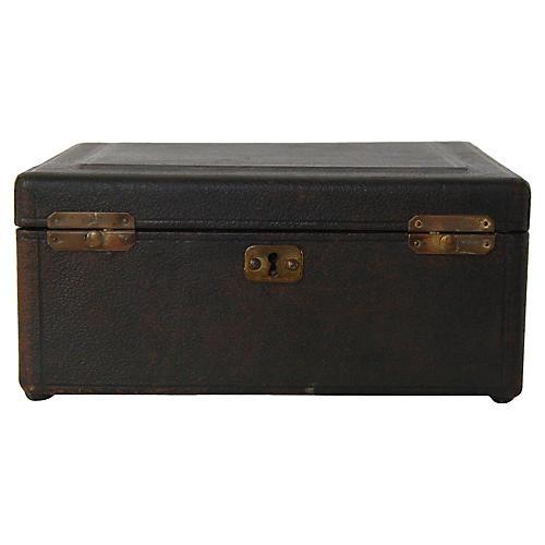 1920s Leather Jewelry Box