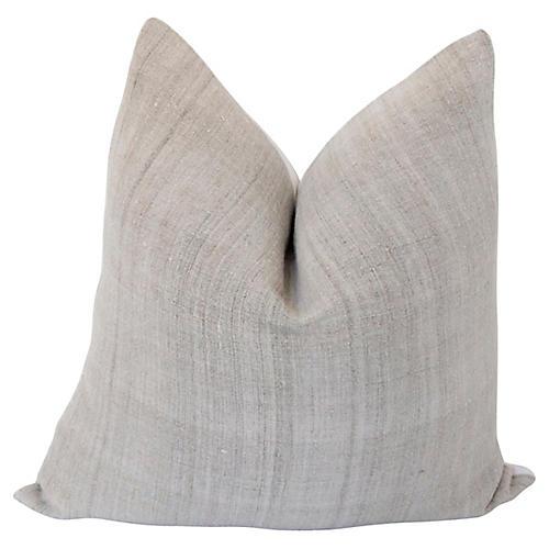 French Hand-Spun Linen Pillow