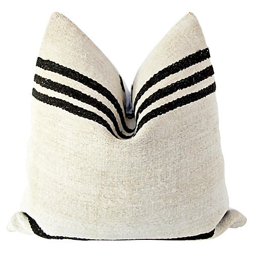 Natural & Black Kilim Pillow