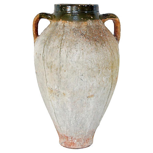 19th-C. Large-Scale Terracotta Oil Jar