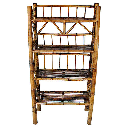 Chinoiserie Tortoise Bamboo Étagerè