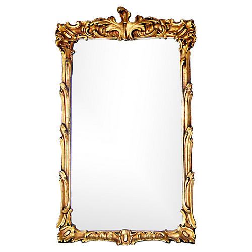 French 19th-C.Gold Giltwood Mirror