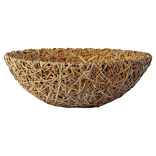 Oversize Bamboo Centerpiece Bowl