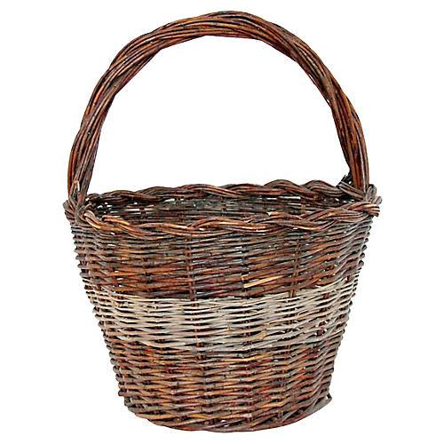 French Woven Market Basket