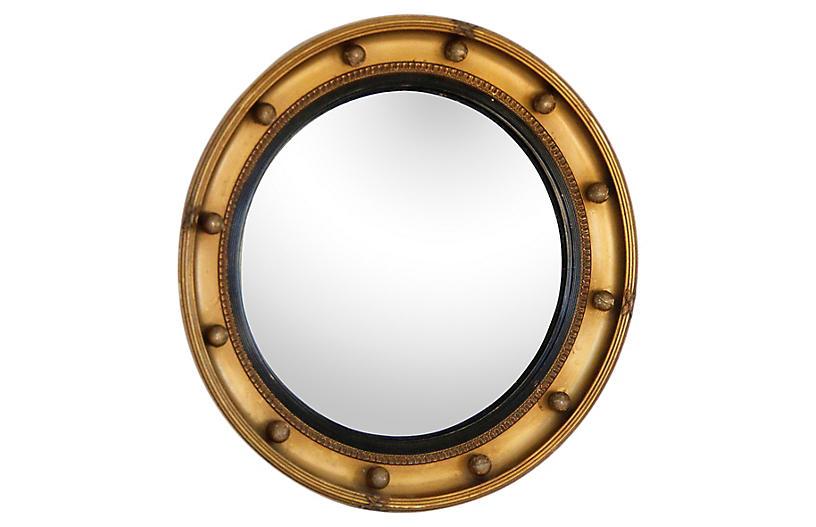 Giltwood Federal Convex Mirror
