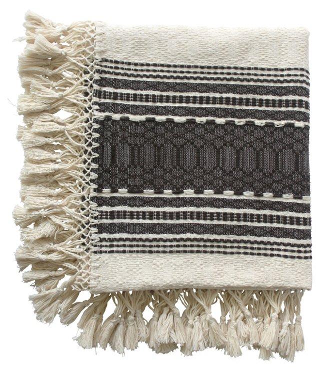 Oaxacan Brown    Cotton Throw