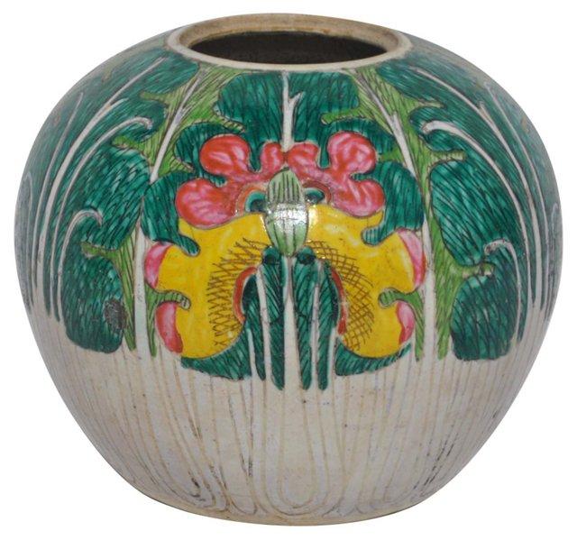 Bright Glazed Pot