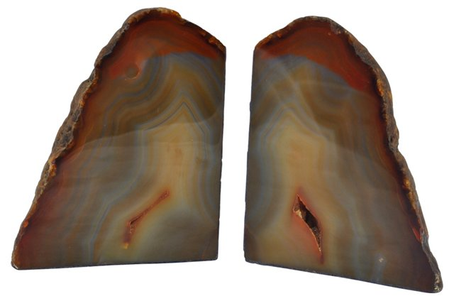 Banded Agate Bookends