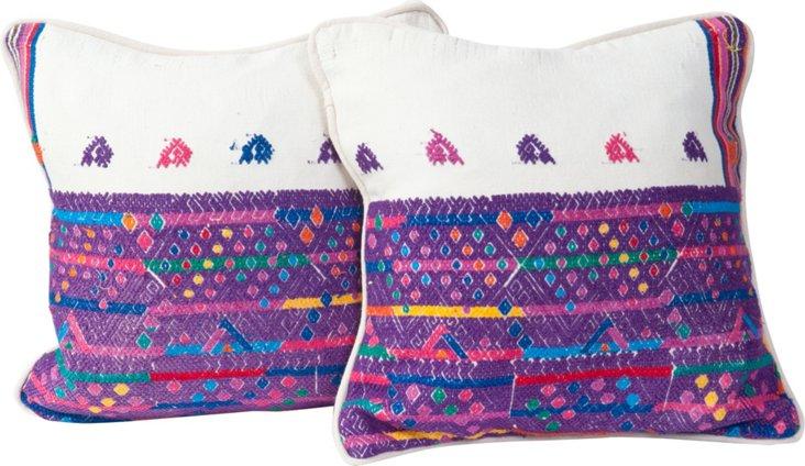 Huipil Pillows, Pair