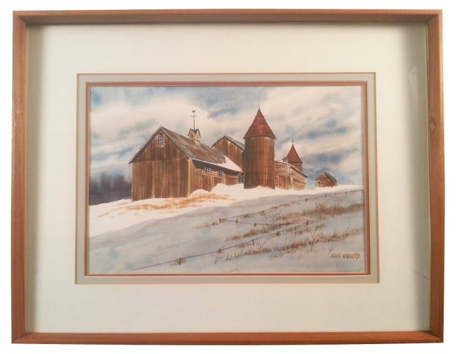 Snow Scene by Art Kelley