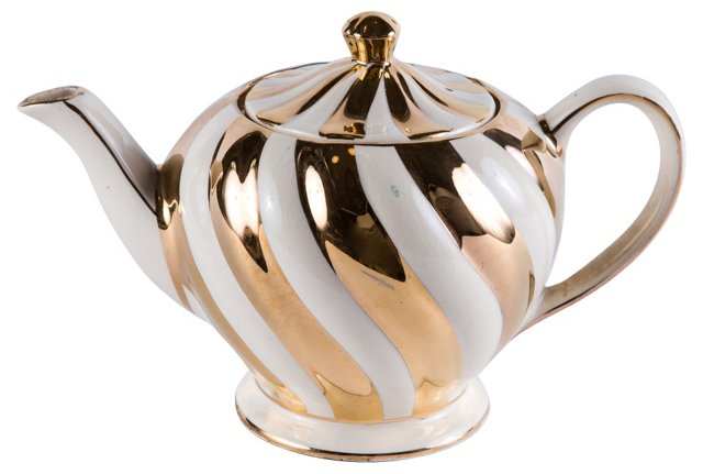 Gold & Cream Teapot