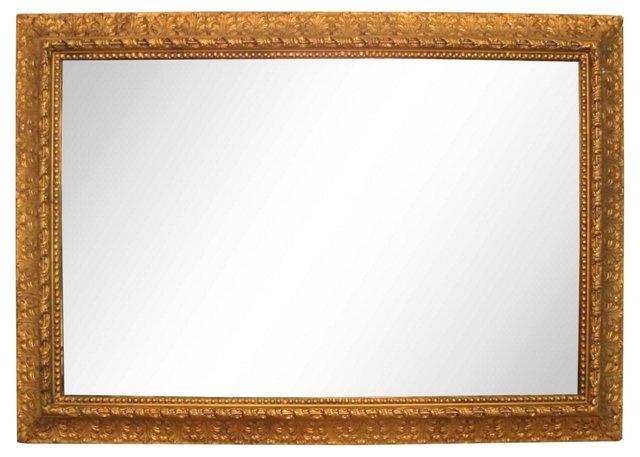 Wood & Gesso Gold Mirror