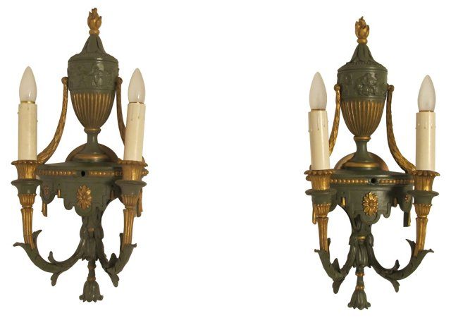 Neoclassical-Style Sconces, Pair