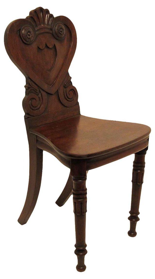 Antique English Hall Chair