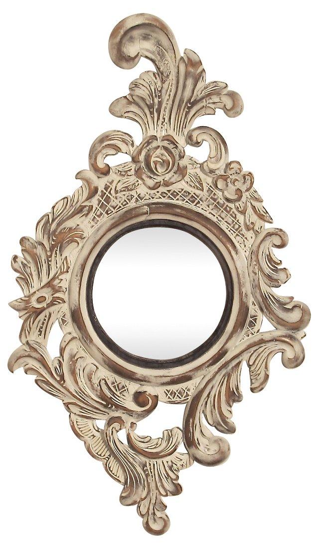 Carved Wood Convex Mirror