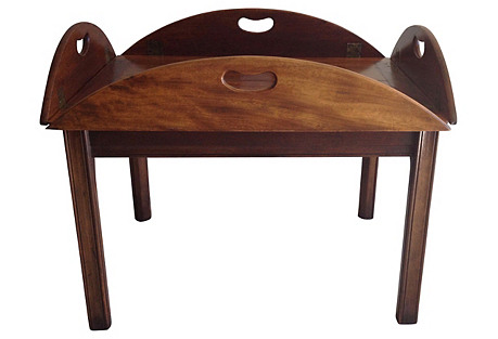 Mahogany Butler's Tray Coffee Table