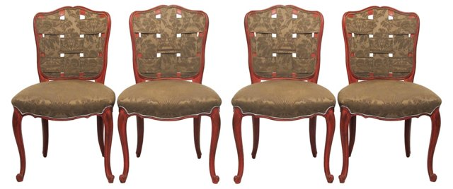 French Louis XV-Style Chairs, Set of 4