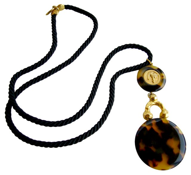 Faux-Tortoise Panther Necklace