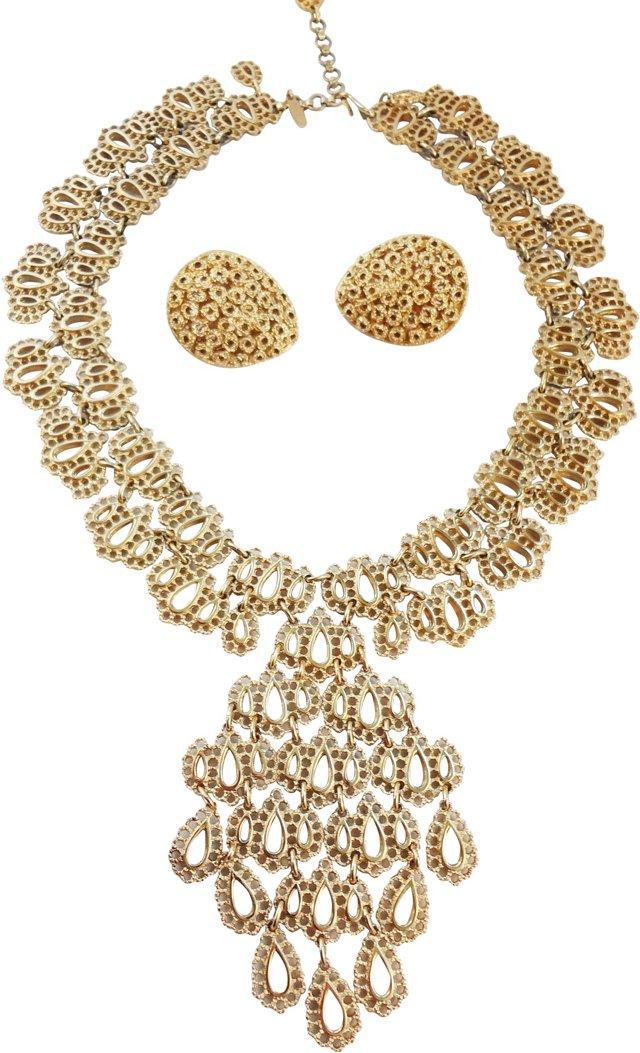 Monet Openwork Necklace & Earring Set