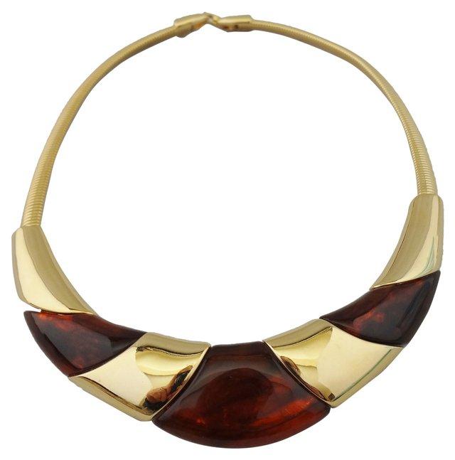 Napier Faux-Tortoise Collar Necklace