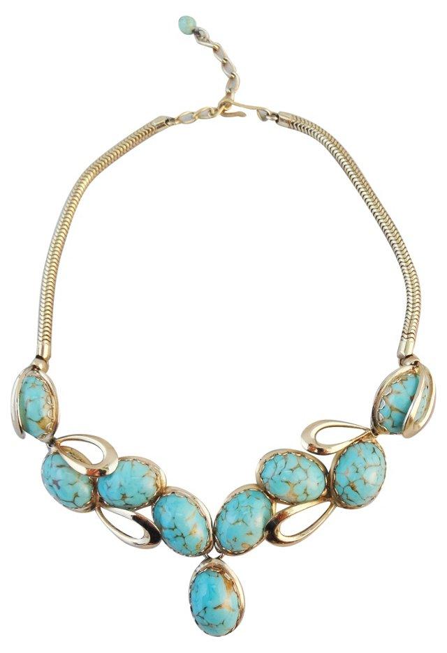 1960s Napier Faux-Turquoise Necklace