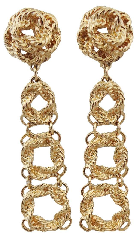Monet Knot Waterfall Earrings, 1972
