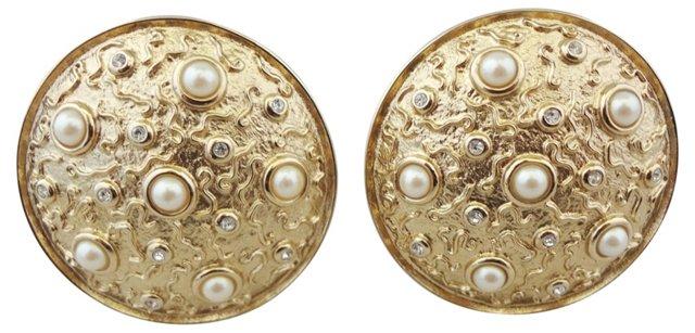 Guy Laroche Faux-Pearl Earrings
