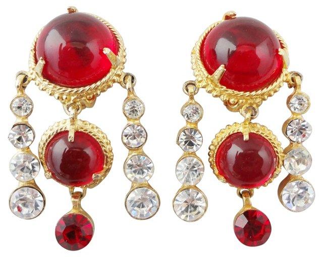 Mosell Faux-Garnet Earrings
