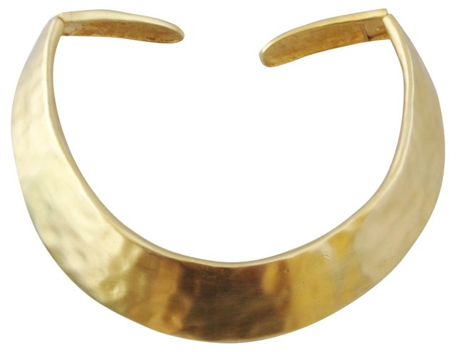 Givenchy Hammered Collar Necklace