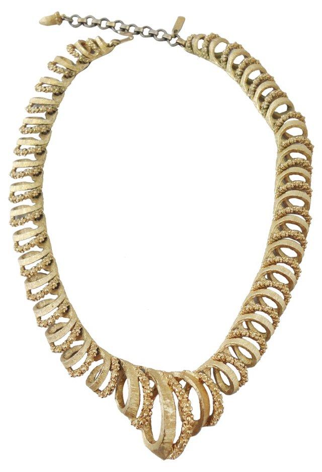 1960s Monet Spiral Necklace
