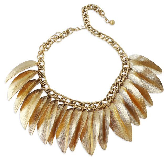 Napier Textured Leaves Necklace