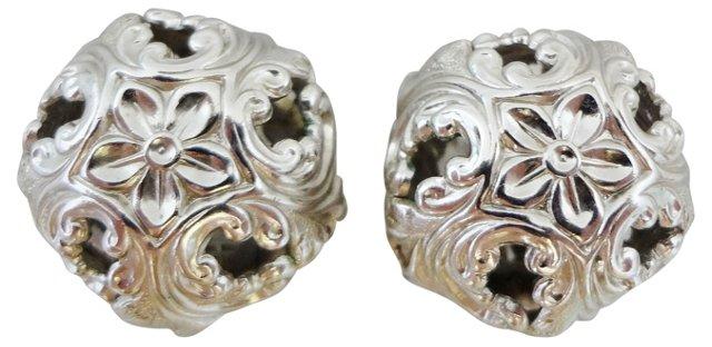 1960s Napier Domed Flower Earrings