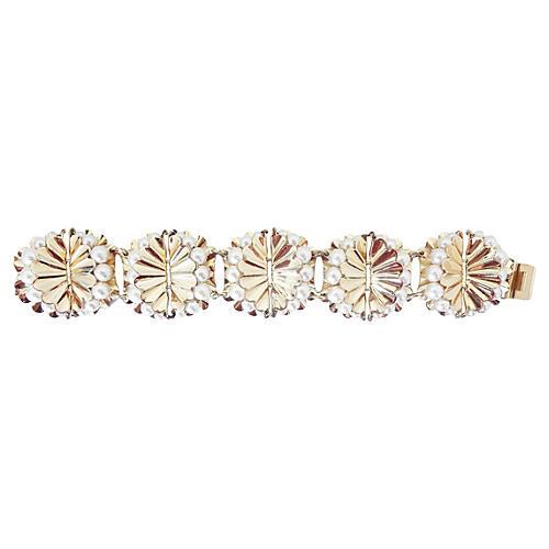 Napier Scalloped Faux-Pearl Bracelet
