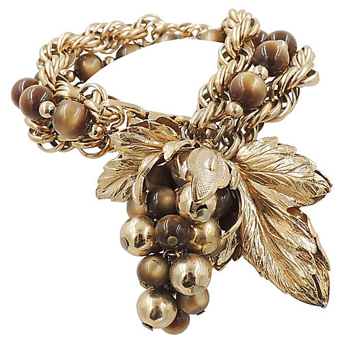 1950s Napier Grape Cluster Bracelet