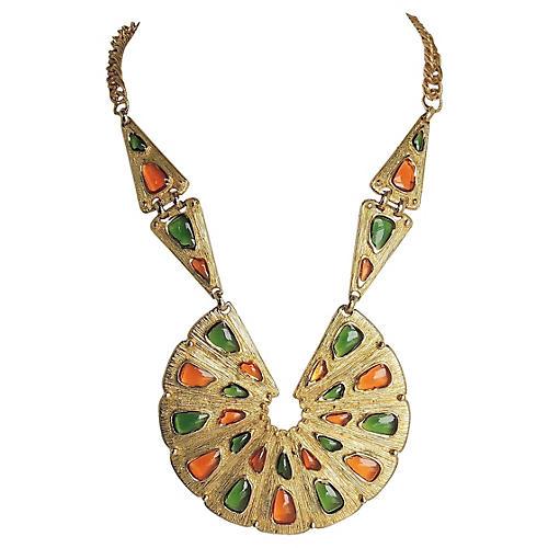 1960s Trifari Plique-à-Jour Necklace