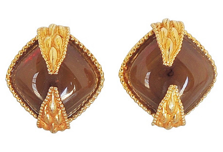 Dominique Aurientis Faux-Agate Earrings