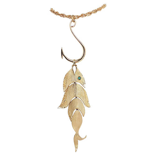 Napier Fish on a Hook Necklace, 1971
