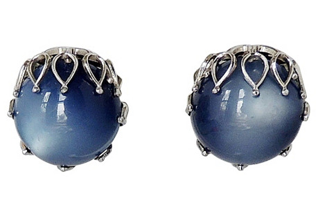 Napier Blue Moonglow Earrings