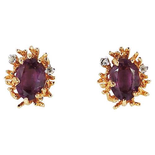 Panetta Faux-Amethyst Earrings