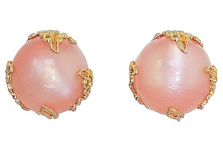 1950s Napier Pink Moonglow Earrings