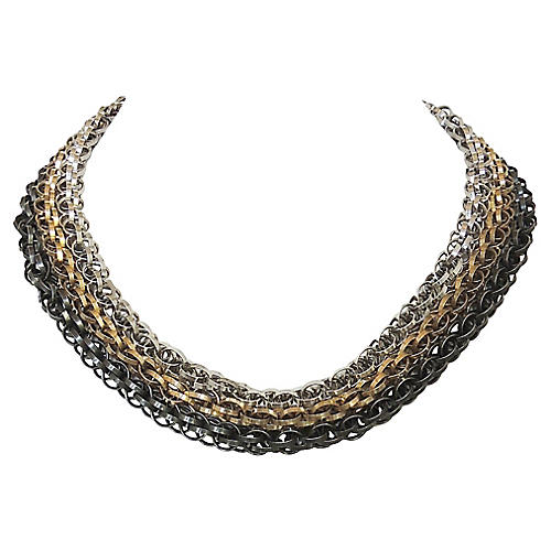 Napier Tri-Tone 3-Strand Necklace