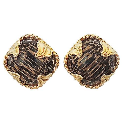 Dominique Aurientis Striped Earrings