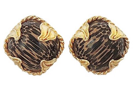 Dominique Aurientis Striped Earrings
