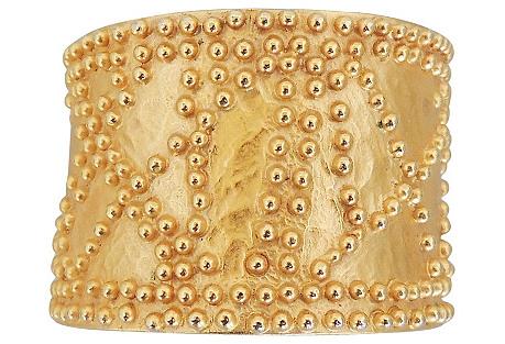 1980s Valentino Studded Cuff Bracelet