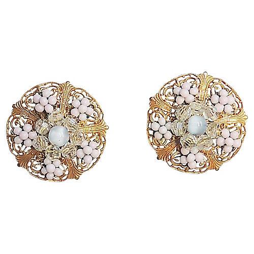 1930s Miriam Haskell Earrings