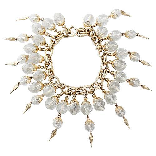 1950s Napier Faceted Glass Bracelet