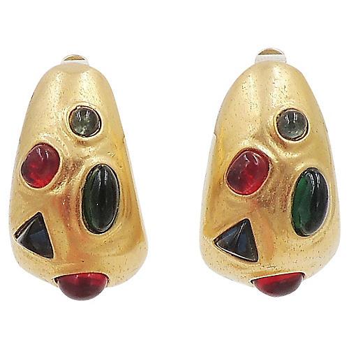 Les Bernard Cabochon Earrings