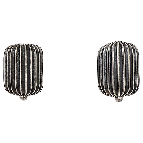 1960s Napier Barrel Clip-On Earrings